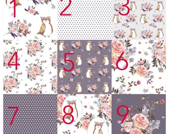 Custom crib bedding - floral owls, bouquet, peonies, shabby chic, lilac bedding, crib bedding, woodland, baby gilr nursery