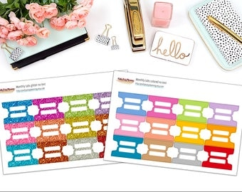 Planner Tabs / multicolor stickers / register / functional stickers / planner stickers / add-on / section tabs