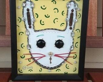 Rabbit Shadow Box Art. 8x10