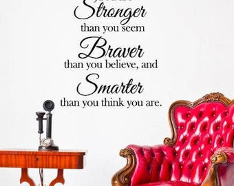 You are Stronger insperational vinyl wall decal