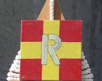 """Signal Flag """"R"""" nautical print"""
