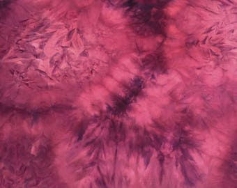 Red Wine Tie-dye : Double Brushed Poly Knit Fabric