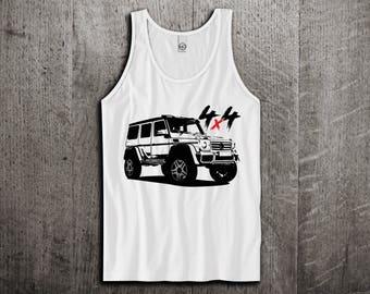 Mercedes G wagon Tank, benz G 4x4 shirts, G wagon shirts, cars tanks, benz cars shirts, mercedes tank tops, Unisex amg tank tops G wagon 4x4