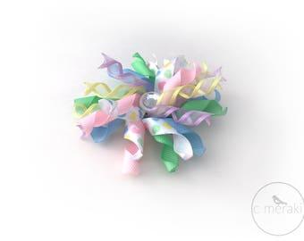 Pastel Hearts Korker // Hair Bow Clip