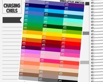 Video Littles Headers #MCS126 Premium Matte Planner Stickers