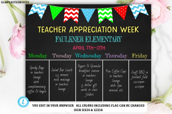 Teacher Appreciation Chalkboard Sign Template Template Printable - Chalkboard sign template