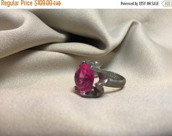 Mid Summer 50% Sale Sterling Silver Ruby like Size 5 3/4