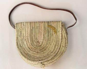 Natural shoulder bag with Golden Spike.