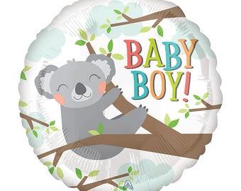 """18"""" Koala baby boy baby shower balloon. baby koala bear theme. koala bear balloon. koala bear decor. koala bear party. koala bear balloons."""