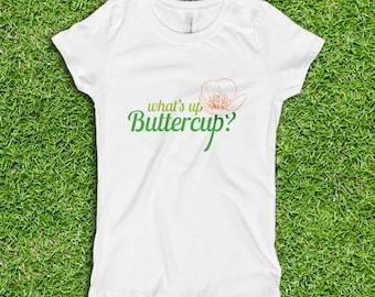 What's up Buttercup? Girls' Princess Crewneck Tee