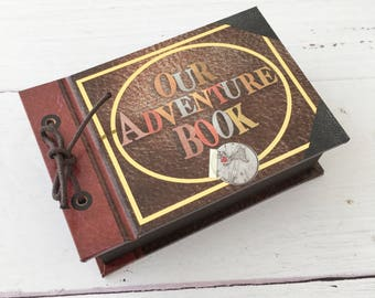 Our adventure book engagement ring box