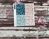PRESALE Lost Glitter Headers, planner stickers