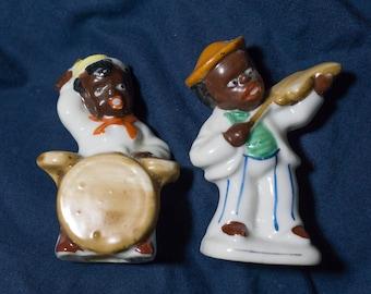 Vintage Black Americana Occupied Japan Figurines