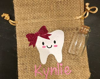 Tooth Fairy Bag, Personalized Tooth Fairy Bag, Tooth Fairy Pouch, Tooth pillow, tooth bag, Tooth Fairy, Tooth Holder