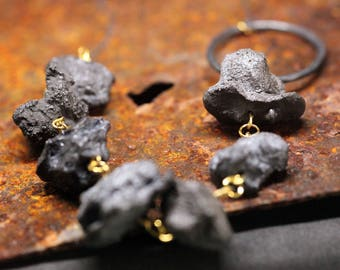 Concrete Rock Necklace | Black Rock Necklace | Oxidised Silver Necklace | Rock Necklace