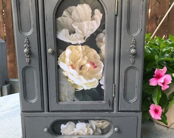 Her Majesty, shabby chic reimagined jewelry armoire