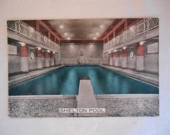 Postcard New York City SHELTON HOTEL Swimming POOL Unused Fine Circa 1950s