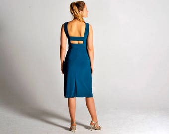 OLIVIA teal tango dress, XS-M