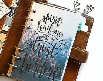 """Planner Dashboard: """"Spirt Lead Me"""", 10 Mil Laminated and Punched"""
