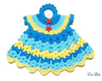 Crochet Potholder, Crochet Dress Potholder, Kitchen Decorations