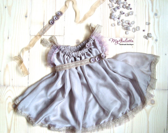 Girl Photography, Newborn Props, Vintage, Silk Dress, Sitter Props, Baby Photo Props, Girl Outfit, Spring Prop, Photo Session, Tull Outfit