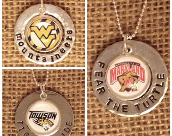 College Photo Charm Necklace