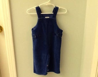 12 Month Royal Blue Corduroy Overalls