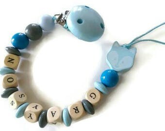 baby boy dummy clip, baby boy soother, personalized binky, soothie clip holder, wooden dummy clip, baby soother clip, boy binky clip, baby
