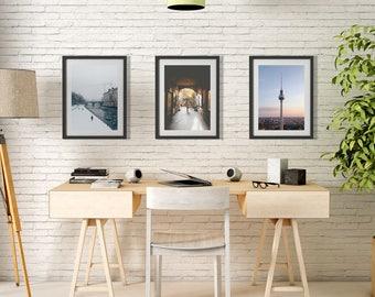 Any THREE Prints Save 25% Set of three photographs Fine art photography Berlin decor