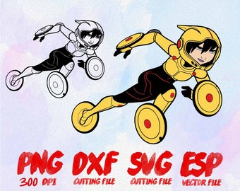 Disney Big Hero 6 Go Go Tomago Clipart , SVG Cutting , ESP Vectors files , T shirt , iron on , sticker ,Personal Use