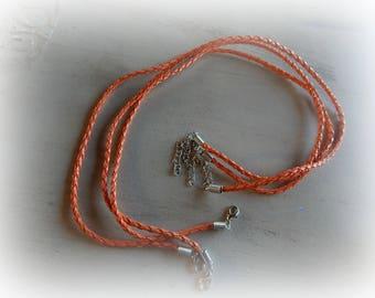 3 Choker / Choker in faux leather Orange