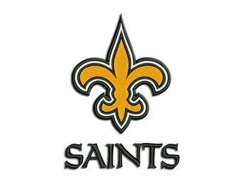 New Orleans Saints - American football: Machine embroidery design