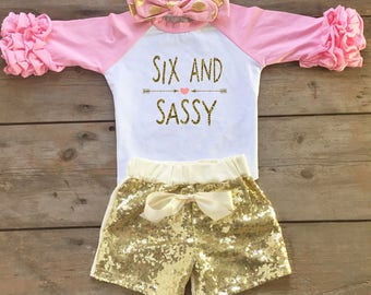 6th Birthday Outfit - 6th Birthday Outfit for Girl - Sixth Birthday Outfit for Girl - 6th Birthday Shirt for Girl - Sixth Birthday Shirt