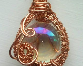Clear orb pendant