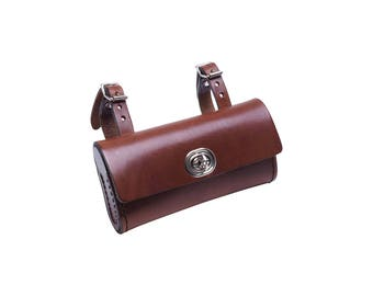 Small Saddle bag made of cowhide leather