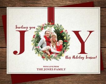 Holiday Card, Christmas Card, Happy Holidays, Joy Christmas Card, Family Christmas Card, Photo Christmas Card, Photo Holiday Card, Joy,