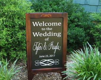Reception Idea, Rehearsal Ideas, Rehearsal Sign, Chalk board Wedding, Reception Sign, Wedding Wood Welcome, Wood Welcome Wedding, Chalkboard