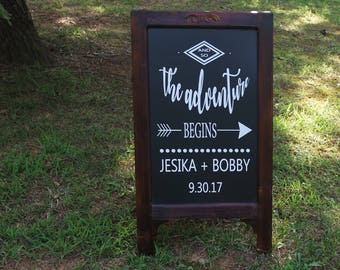 Ceremony Display, Aisle Decor, Aisle Display, Shower Display, Wedding Chalkboard, Wedding Easel, Easel, Chalk board, Reception Display