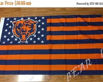 Summer Sale Chicago Bears, Bears Nation Flag or Banner 3' x 5'