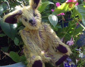 "Jennifer Juniper, a 7"" limited edition hand sewn collectors' mohair artist hare"