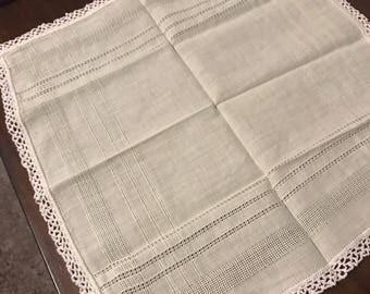 Light Green Vintage Handkerchief crochet
