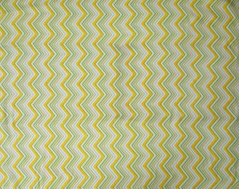 "Zigzag Print, White Fabric, Dressmaking Fabric, Quilt Material, Decor Fabric, 45"" Inch Cotton Fabric By The Yard ZBC8419A"