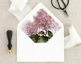 Envelopes for Wedding Invitations Floral Lined Envelopes - Pink Wedding Envelopes Floral - Envelopes for Invitations - Envelopes With Liner