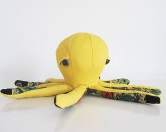 "hand made soft toy octopus ""Octop."" best friend for kids,home decor for adults."