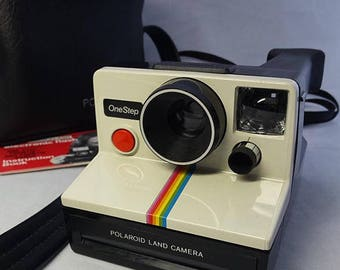 Vintage Polaroid One Step Land Instant Film Camera with Case