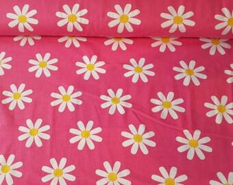 Daisy Pink JNY Organic Cotton Lycra Jersey Knit Fabric