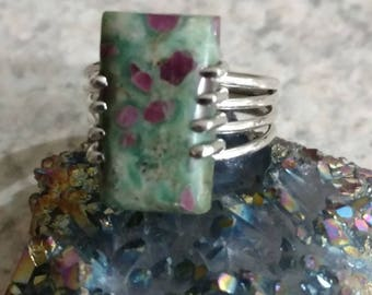 Ruby In Fuchsite Ring Size 9