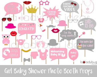Photo booth props baby shower | Etsy