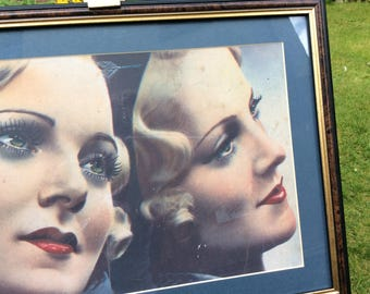 1938 French Chic Mirror Image by Amour Print