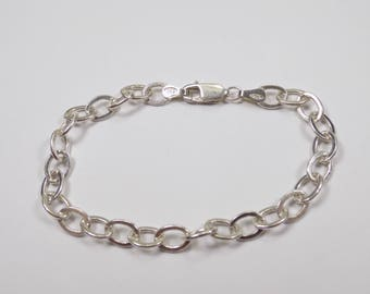 Sterling silver bracelet 7 inches long